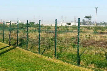 Security fences for factories
